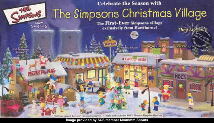 Simpsons Christmas Village.Merchandise Release Guide Simpsons Collector Sector